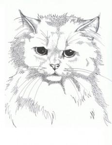 Katze aus Punkten
